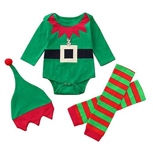 Bebe Navidad Disfraz Duende Ropa Conjunto Recién Nacido Ni
