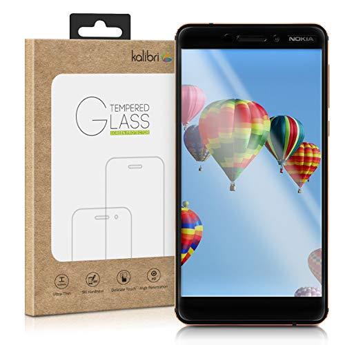 kalibri Folie kompatibel mit Nokia 6.1 (2018) - 3D Glas Handy Schutzfolie - auch für gewölbtes Bildschirm