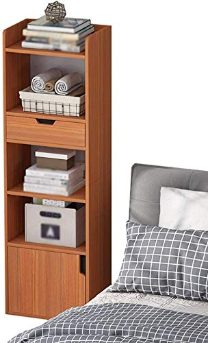 HTL Gabinetes de archivos útiles Nightstand Nightstand Levantan la barandilla 1-Cajas 1 puerta Ahorre espacio Residencial Bedroomment Storage 33x25x120cm Mesa lateral,C