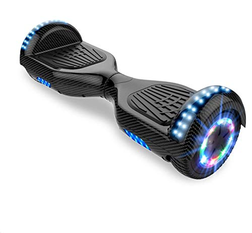 Self-Balancing Scooter, Hoverboard Elektro Scooter 6,5zoll Scooter hoverboard kinder Bluetooth Scooter mit bunten Lichter Bluetooth eingebaute Geschenk für (Carbon)