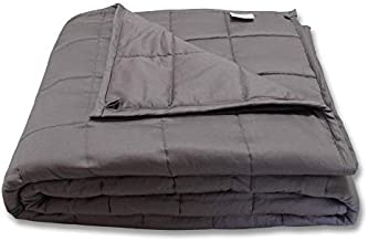 """CMFRT Weighted Blanket -   Fits Queen-Sized Bed Top (60""""x80"""" – 20 lb)   Get Quality Rest   100% Soft Breathable Cotton   (Perfect for 180 lb individual)"""
