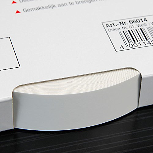 Kantenumleimer für Möbelbauplatten und Regalbretter Weiß 25 m x 24 mm