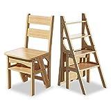 WJMLS Taburete de madera robusta madera LadderWooden escalera multifunción, Presidente espesado Biblioteca Presidente de la escalera, luz portátil Escalera Herramienta for el jardín escalera de altill