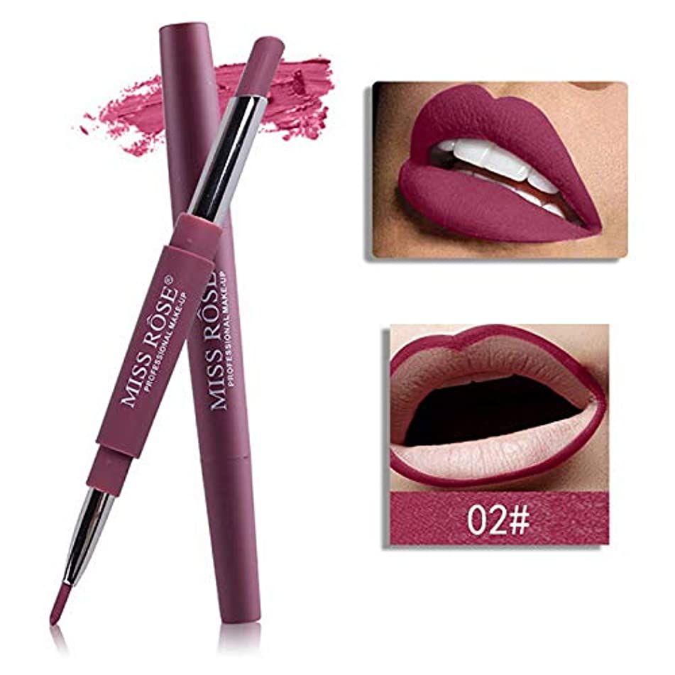 12 Colors Long-Lasting Lip Liner Matte Lip Pencil Waterproof Moisturizing Lipsticks Makeup 02