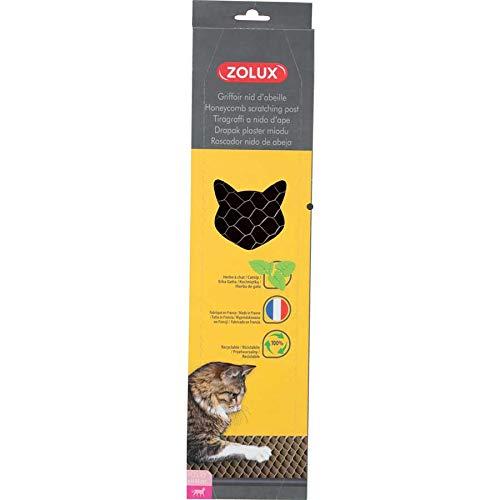 Zolux - Tiragraffi in Cartone a Nido d'Ape con Catnip per Gatto, 45 cm