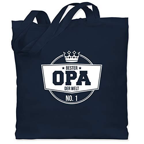 Shirtracer Opa - Bester Opa der Welt - Unisize - Navy Blau - jutebeutel opa - WM101 - Stoffbeutel aus Baumwolle Jutebeutel lange Henkel