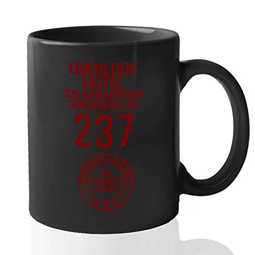 N\A Taza de café de Stephen King - Overlook Hotel The Shining Merchandise Memorabilia Memoir (11oz Negro)