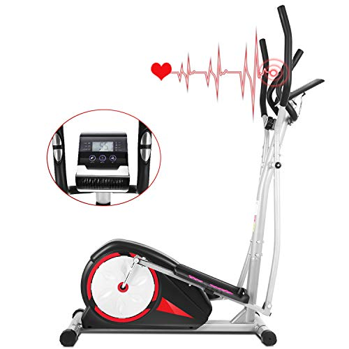 FUNMILY Elliptical Exercise Machine for Home Use,Quiet & Smooth, Indoor Compact Elliptical...