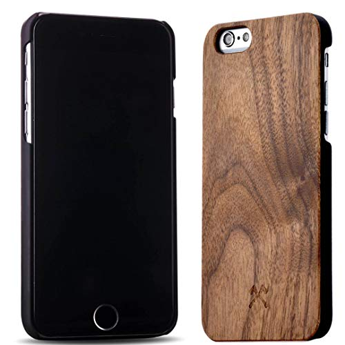 Woodcessories - Hülle kompatibel mit iPhone 6/ 6s aus Echtholz - EcoCase Classic (Walnuss/Schwarz)