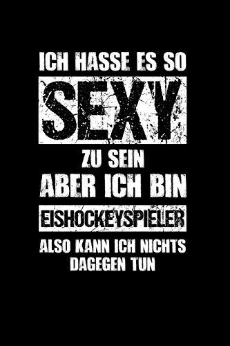 Eishockey: Sexy Eishockeyspieler: Notizbuch / Notizheft für Eis-Hockey A5 (6x9in) dotted Punktraster