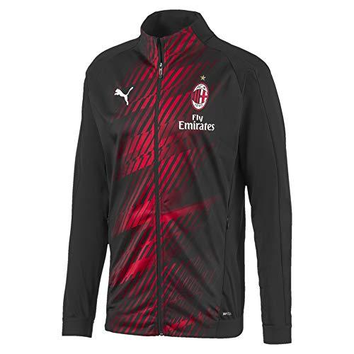 Puma ACM Stadium W. Sponsor, chaqueta de chándal para hombre, negro/tango rojo, S