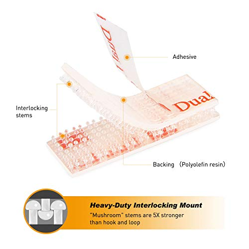 GOOACC EZ Pass Mounting Kit - 2 Sets of Peel-and-Stick Strips-EZ Pass/I-Pass/SunPass Adhesive Strips with Alcohol Prep Pad Photo #3