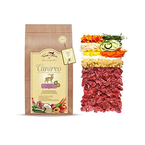 Terra Canis Wild, Gemüse, Obst & Kokosmehl - Canireo Trockenfutter, 5kg I Premium Hundefutter in 100% Lebensmittelqualität Aller Rohstoffe I 64% Frischfleisch, Getreide- & glutenfrei