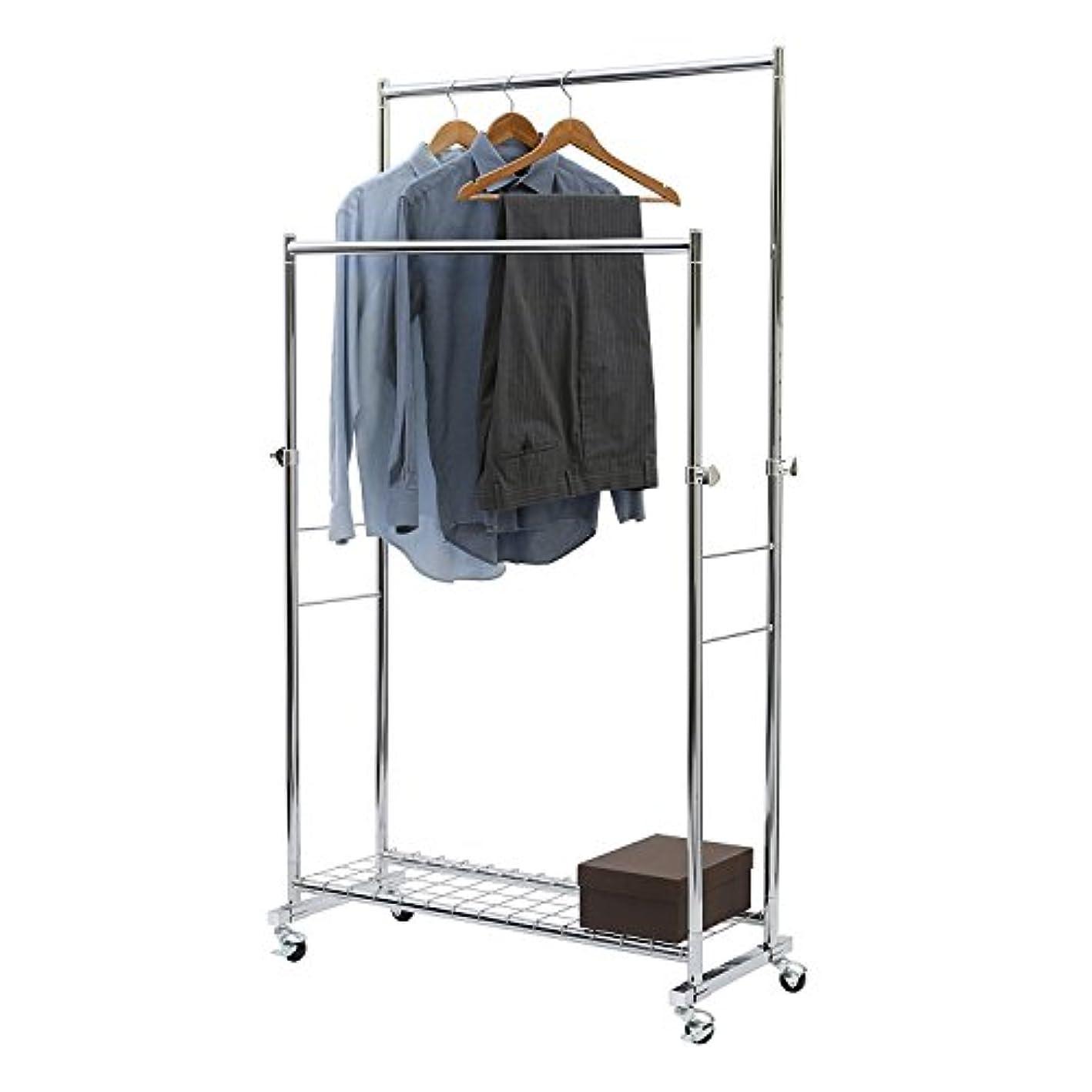 Seville Classics Commercial Double Rod Garment Rack