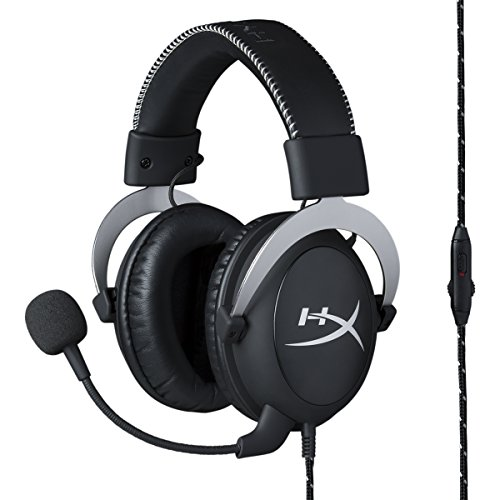 HyperX Cloud Silver ゲーミングヘッドセット インライン音量コントロールBox付属 シルバー 2年保証 HX-HSCL-SR/NA