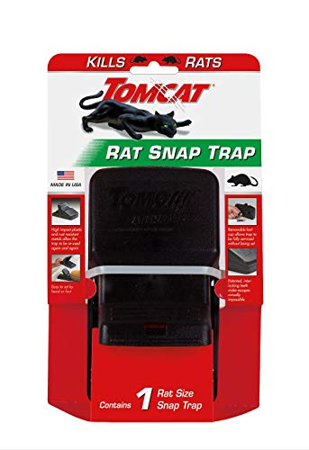 Tomcat Rat Snap Trap, 1 Rat Size Trap - Reusable - Effectively Kill Rats - Ideal for Home and Farm Use