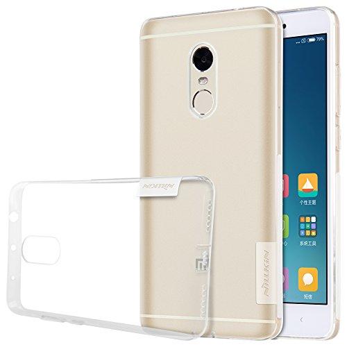 Nillkin Nature - Carcasa trasera protectora y antideslizante de gel TPU para Xiaomi Redmi Note 4 - Transparente
