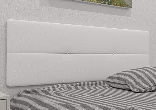 LA WEB DEL COLCHON - Cabecero tapizado Julie para Cama de 135 (145 x 55 cms) Blanco
