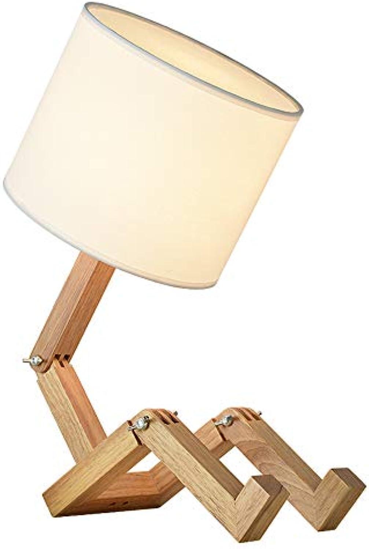 Wangmy Nordic kreative dekorative tischlampe einstellbar Schlafzimmer Nacht einfache Moderne Studie Schreibtisch massivholz persnlichkeit Schreibtisch lampen