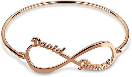 925 sterling silver MSYOU collana personalità nome braccialetto signore braccialetto madre amante regalo regalo di compleanno vacanza Rosegold