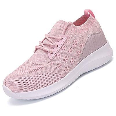 AoSiFu Women's Lightweight Walking Shoes Breathable Mesh Casual Sport Shoes Fashion Sneakers