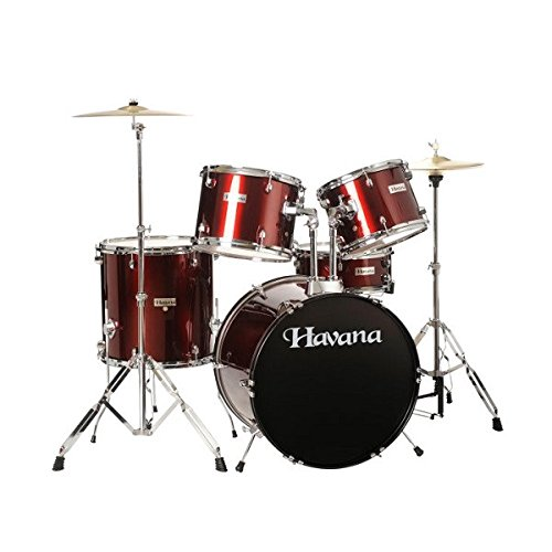 Havana Imported HV522 Acoustic Drum Set (Wine Red)