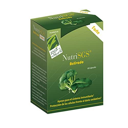 100% Natural. NutriSGS  Forte. Extracto Concentrado De Brócoli. 60 Cápsulas Gastroresistentes