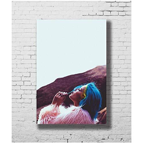 A&D Halsey Badlands Popmusik Sängerin Mädchen Stern Wandaufkleber Dekoration Kunst Poster Druck auf leinwand -50x70cmx1pcs-Kein Rahmen