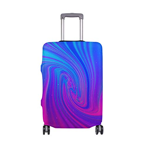 Moyyo Holographic Abstract Galaxy Travel Luggage Cover Suitcase Protector Cover Elastic Washable Suitcase Cover Fits 18-20 inch Luggage