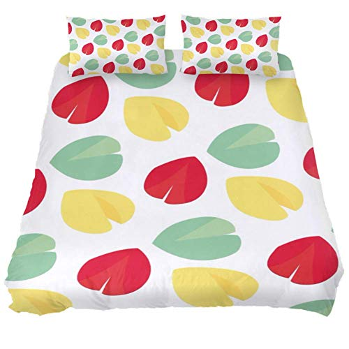 Three-Piece Bed Set Duvet Cover Pillow Case Soft Comfy Breathable Comfortable Comforter Cover Set Queen King Twin Full Size Fortune Cookie Pattern