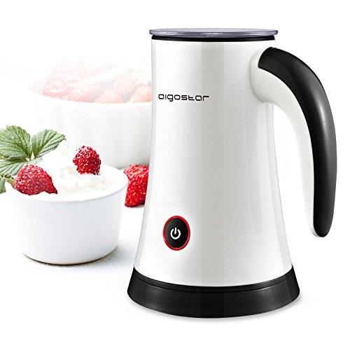 Aigostar Miss Puff 30KDF-Automatische Milchaufschäumer, 450Watt, Milk Frother zur Zubereitung von Heiß- und Kaltschaum oder Warmmilch 200ml.
