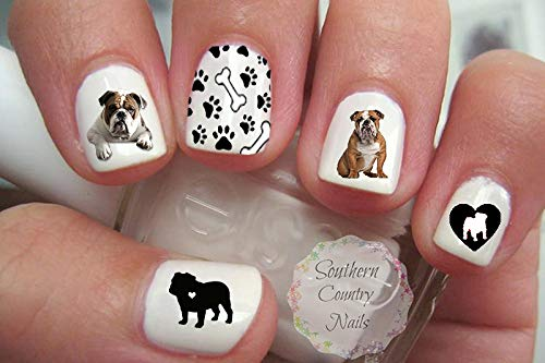 Cute English Bulldog #8 Nail Art Decals