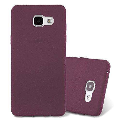 Cadorabo Hülle für Samsung Galaxy A5 2016 in Frost Bordeaux LILA - Handyhülle aus flexiblem TPU Silikon - Silikonhülle Schutzhülle Ultra Slim Soft Back Cover Case Bumper