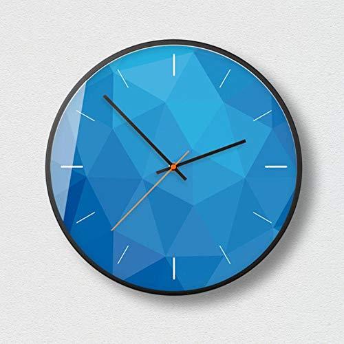 XXYMCB Hermoso Reloj de Pared de Cuarzo Ideas de Regalo silencioso Reloj para el hogar Decoración de diseño Moderno Reloj de Pared Relojes-D