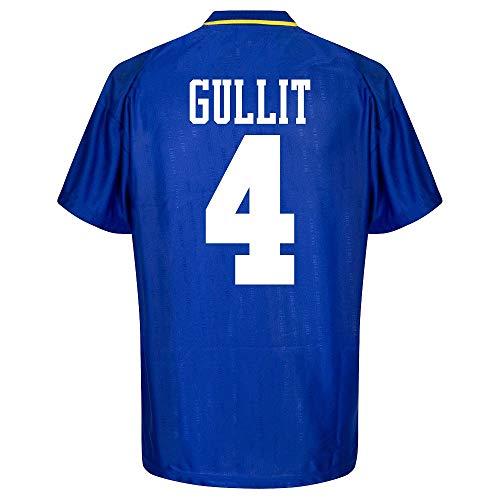 Score Draw Chelsea Gullit 4 Home Retro Trikot FA Cup Final 1997 (Retro Filz-Spielerbeflockung) - XXL
