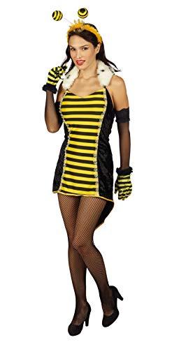 Andrea Moden 817-44/46 - kostuum koningin, jurk met manchetten en kraag, maat 44/46, bijen, hommeldieren, insecten, motto party, carnaval