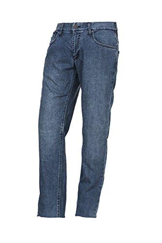 Esquad Pantalón de Vaquero para Moto, Smokey Blue, Talla 28