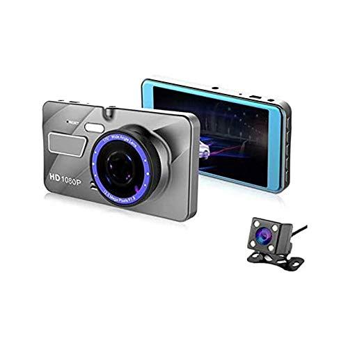 XIXIDIAN Grabadora de conducción de visión Nocturna de Alta definición, Imagen de inversión de automóviles de 4 Pulgadas 2.5D con Pantalla LCD de 3'170 ° de Ancho, WDR, Sensor G, grabación de Bucle y