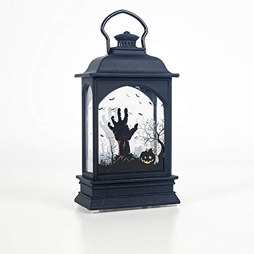 SZMYLED Halloween LED Lantern Lights, Candle Lamp Transparent Halloween Lantern Decoration for Home Bar Prop Party Halloween Decoration Ghost Hand