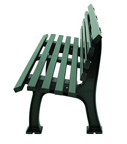 Wetterfeste Parkbank 3-sitzer, Kunststoff grün - 2