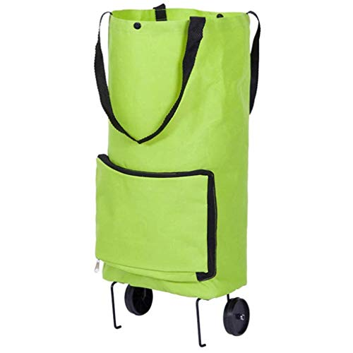 RHSMP Haushaltswagen Faltbare Einkaufstasche Tragbarer Oxford-Stoff Einkaufstasche Ziehrad Marktwagen Umweltfreundlicher Zusammenklappbarer Schlepper-Einkaufswagen