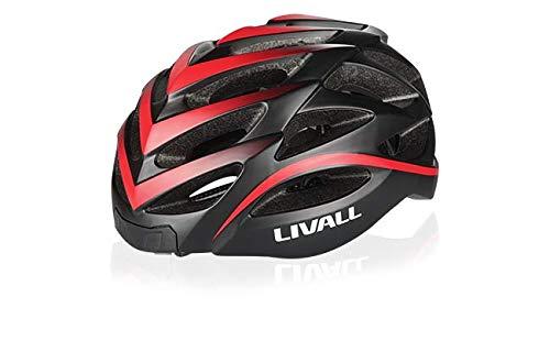 LIVALL BH62 赤(RED) 自転車 ヘルメット LEDライト 方向指示器 3軸センサー 安全アラート ブルートゥース 音楽視聴 電話機能 トランシーバー GPSナビゲーション