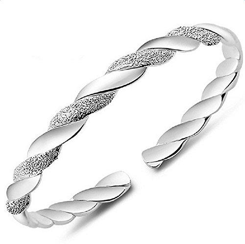 Westeng 1 pcs Pulsera de acero inoxidable Elegante nuevo estilo Brazalete Joyería...