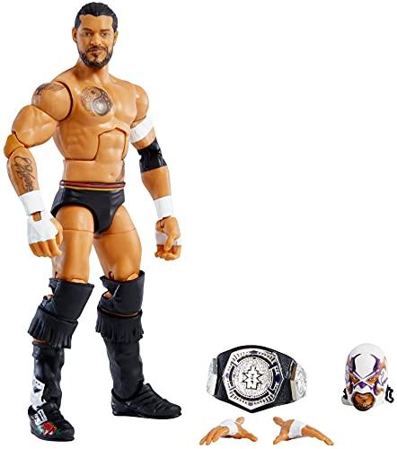 WWE Élite Figura de acción Santos Escobar, muñeca articulada de juguete con...