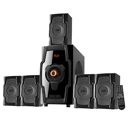 Zebronics ZEB-BT8490RUCF Wireless Bluetooth Multimedia Speaker With Supporting Equalizer, SD Card, USB, AUX, FM & Remote Control. (80 Watt, 5.1 Channel)