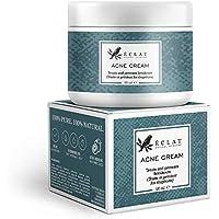 Crema para Acné Eclat – Tratamiento Antiacné Natural Doble Potencia con Ácido Ascórbico – Para Manchas, Marcas y Puntos Negros – Hidratante y Apta para Pieles Sensibles