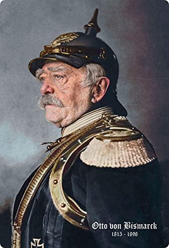 Blechschild 20x30cm gewölbt Otto von Bismarck Farbe Deko Geschenk Schild