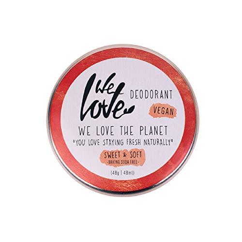 We Love The Planet - Vegan Deocreme Sweet & Soft - Amandel en witte pioenroos - 48 g