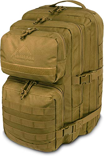 normani US Assault Cooper Pack Large Rucksack im Military Style Farbe Coyote Größe 30 Liter