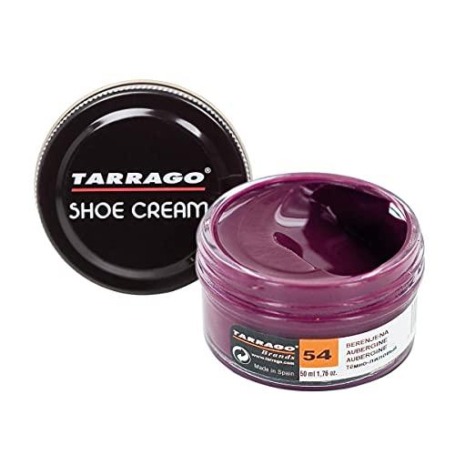 Tarrago |Shoe Cream 50 ml | Crema para Zapatos, Bolsos y Accesorios de Cuero y Cuero Sintético (Berenjena 54)